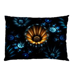 Fractal Flowers Abstract  Pillow Case