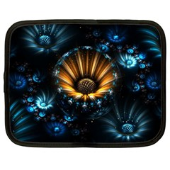 Fractal Flowers Abstract  Netbook Case (xxl)  by amphoto