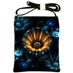 Fractal Flowers Abstract  Shoulder Sling Bags by amphoto