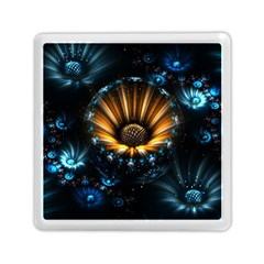 Fractal Flowers Abstract  Memory Card Reader (square)  by amphoto