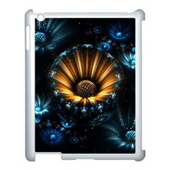 Fractal Flowers Abstract  Apple Ipad 3/4 Case (white) by amphoto