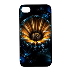 Fractal Flowers Abstract  Apple Iphone 4/4s Hardshell Case With Stand