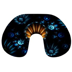 Fractal Flowers Abstract  Travel Neck Pillows by amphoto