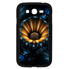 Fractal Flowers Abstract  Samsung Galaxy Grand Duos I9082 Case (black) by amphoto