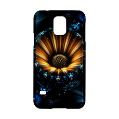 Fractal Flowers Abstract  Samsung Galaxy S5 Hardshell Case  by amphoto