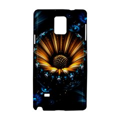 Fractal Flowers Abstract  Samsung Galaxy Note 4 Hardshell Case by amphoto