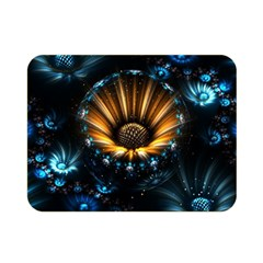 Fractal Flowers Abstract  Double Sided Flano Blanket (mini)  by amphoto