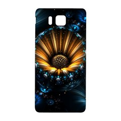 Fractal Flowers Abstract  Samsung Galaxy Alpha Hardshell Back Case by amphoto