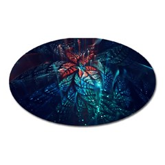 Fractal Flower Shiny  Oval Magnet by amphoto