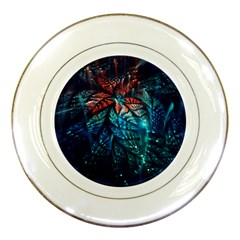 Fractal Flower Shiny  Porcelain Plates by amphoto