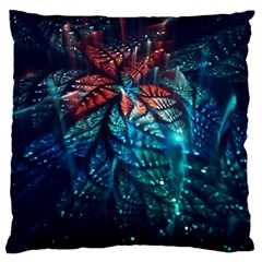 Fractal Flower Shiny  Large Cushion Case (two Sides) by amphoto