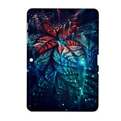 Fractal Flower Shiny  Samsung Galaxy Tab 2 (10 1 ) P5100 Hardshell Case  by amphoto