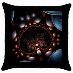 Pattern Fractal Abstract 3840x2400 Throw Pillow Case (black) by amphoto