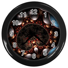 Pattern Fractal Abstract 3840x2400 Wall Clocks (black) by amphoto