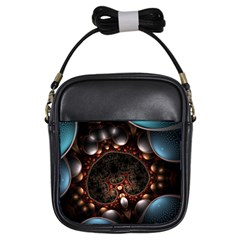 Pattern Fractal Abstract 3840x2400 Girls Sling Bags by amphoto