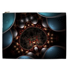 Pattern Fractal Abstract 3840x2400 Cosmetic Bag (xxl)  by amphoto