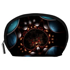 Pattern Fractal Abstract 3840x2400 Accessory Pouches (large)  by amphoto