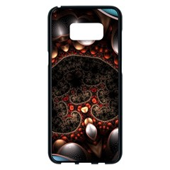 Pattern Fractal Abstract 3840x2400 Samsung Galaxy S8 Plus Black Seamless Case by amphoto