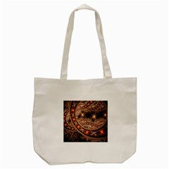 Fractal Patterns Abstract  Tote Bag (cream) by amphoto