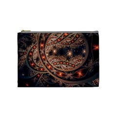 Fractal Patterns Abstract  Cosmetic Bag (medium)  by amphoto