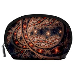 Fractal Patterns Abstract  Accessory Pouches (large)  by amphoto