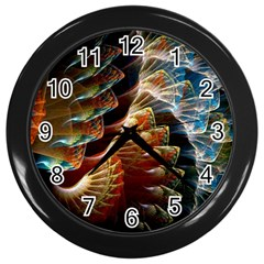 Fractal Patterns Abstract 3840x2400 Wall Clocks (black) by amphoto