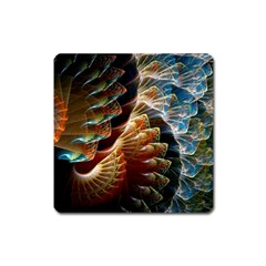 Fractal Patterns Abstract 3840x2400 Square Magnet by amphoto