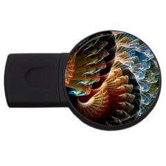 Fractal Patterns Abstract 3840x2400 Usb Flash Drive Round (4 Gb) by amphoto