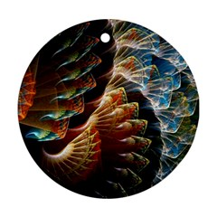Fractal Patterns Abstract 3840x2400 Round Ornament (two Sides) by amphoto
