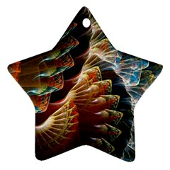 Fractal Patterns Abstract 3840x2400 Star Ornament (two Sides) by amphoto