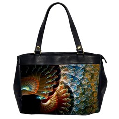 Fractal Patterns Abstract 3840x2400 Office Handbags (2 Sides)  by amphoto