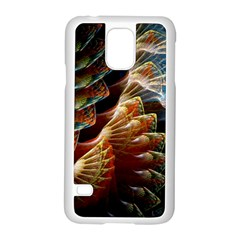 Fractal Patterns Abstract 3840x2400 Samsung Galaxy S5 Case (white) by amphoto