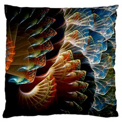 Fractal Patterns Abstract 3840x2400 Standard Flano Cushion Case (two Sides) by amphoto