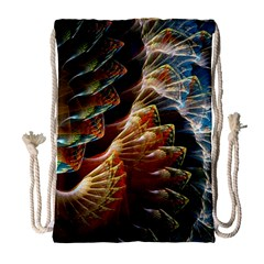 Fractal Patterns Abstract 3840x2400 Drawstring Bag (large) by amphoto