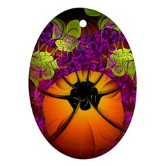 Patterns Lines Purple  Ornament (oval) by amphoto