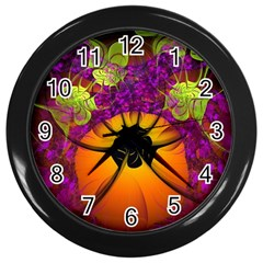 Patterns Lines Purple  Wall Clocks (black) by amphoto