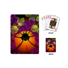 Patterns Lines Purple  Playing Cards (mini)  by amphoto
