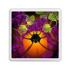 Patterns Lines Purple  Memory Card Reader (square)  by amphoto
