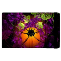 Patterns Lines Purple  Apple Ipad 3/4 Flip Case by amphoto