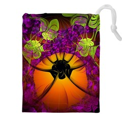 Patterns Lines Purple  Drawstring Pouches (xxl) by amphoto