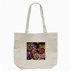 Abstract Patterns Fractal  Tote Bag (cream) by amphoto