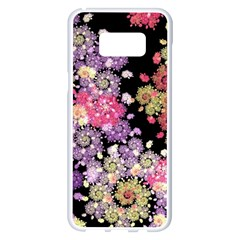 Abstract Patterns Fractal  Samsung Galaxy S8 Plus White Seamless Case