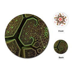 Fractal Weave Shape  Playing Cards (round)  by amphoto