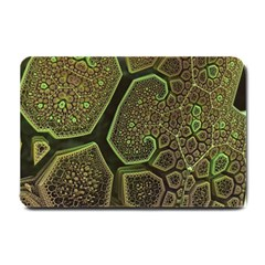 Fractal Weave Shape  Small Doormat  by amphoto