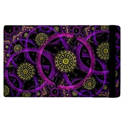Fractal Neon Rings  Apple Ipad 3/4 Flip Case by amphoto