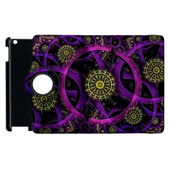 Fractal Neon Rings  Apple Ipad 3/4 Flip 360 Case by amphoto