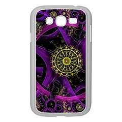 Fractal Neon Rings  Samsung Galaxy Grand Duos I9082 Case (white) by amphoto