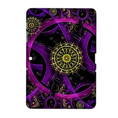 Fractal Neon Rings  Samsung Galaxy Tab 2 (10 1 ) P5100 Hardshell Case  by amphoto