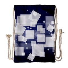 Squares Shapes Many  Drawstring Bag (large) by amphoto