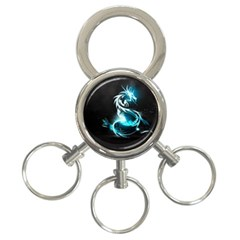 Dragon Classical Light  3 Ring Key Chains by amphoto
